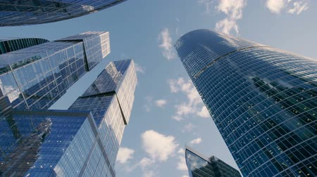 gif : Seamless loop - Looking up at business buildings