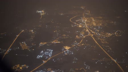 magasság : View from the airplane window. Night time.