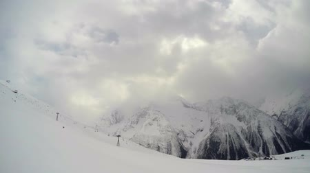 Timelapse Berge in den Wolken Videos