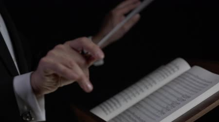 kondüktör : Hands of a conductor performing