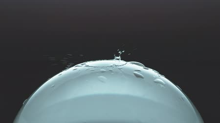 Water droplet splashes on a glass ball - Phantom Flex 4K - 1000fps