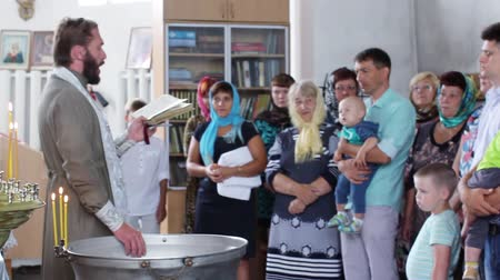 christening : Russia, Novosibirsk, August 25, 2016. The children baptized in the Church