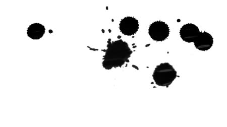 splashed : On the paper surface paint dripping. The obtained patches have different rounded shape.