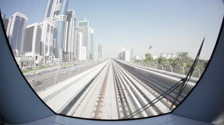метро : Dubai metro 06 day rails city fisheye lens
