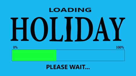conversa : Progress Bar Loading with the text: Holiday. Vídeos