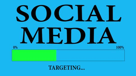 targeted : Progress Bar Loading with the text: social media targeting. Stock Footage