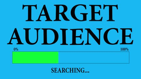 targeted : Progress Bar Loading with the text: searching target audience.