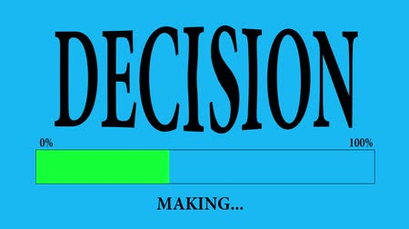 questionário : Progress Bar Loading with the text: making decision.