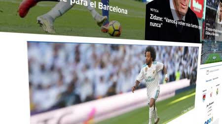 real madrid : Khimki, Russia - December 24, 2017: The homepage of the official website for realmadrid.com, Madrid football club official web page on December 24, 2017. Stock Footage