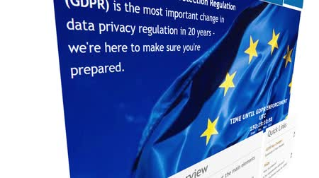 legislação : Khimki, Russia - December 25, 2017: The homepage of the official website for the EU GDPR (General Data Protection Regulation), on December 25, 2017.