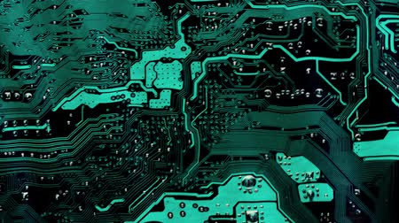 impressão digital : Flag from a soft textile motherboard on a wavy background. Stock Footage