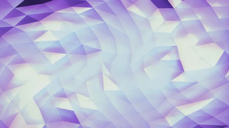 trójkąt : Abstract violet low-poly background 3D animation rendering Wideo