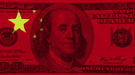 bandeira americana : Chinese flag on the bill The United States has published 1,300 tax items that will be subject to a tax of 25 percent, which will tax more.
