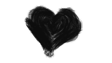 art : hand drawn heart for use in transitions