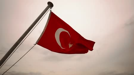 Flag of Turkey fluttering in the wind