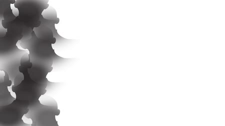 Businessman heads silhouettes. Ink style matte transitions. You can use them as luma matte, transitions between video games in the overlay mode. Vídeos