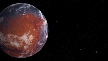 continentes : Rotating planet mars. Futuristic view of the planet with water surface and continents. Elements of this image furnished bu NASA. Stock Footage