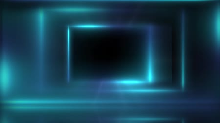 Abstract mystical glowing background, mock up. Empty dark interior room and glowing frame.