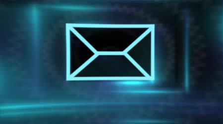 E-mail envelop-symbool Stockvideo