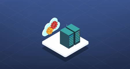 Artificial intelligence and machine learning isometric icon Wideo