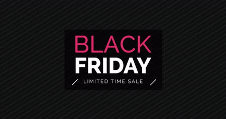 Black friday promotional sale banner with neon effect, shopping and retail concept