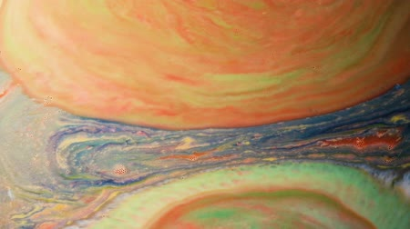 clareza : Abstract psychedelic background. Narrowing of multicolored paints in milk Vídeos