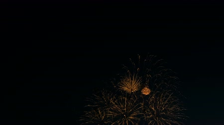 торжественной : Beautiful fireworks on the city day holiday celebration, salute on the night sky