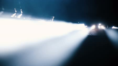 crevice : Supernatural phenomenon - the bright sun rays of the sun shine through the gaps, slow motion, camera movement