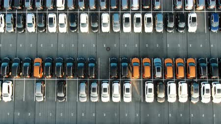 маркировка : coloured vehicle rows on storage area with white marking