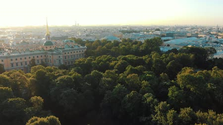 imparator : historical palace surrounded by green park at sunrise