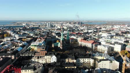 evangelical : St. Johns Church in Helsinki, Helsinki cityscape aerial view