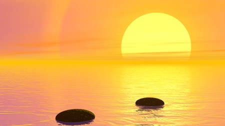 massages : Steps to the sun - 3D render