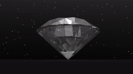 joyas : Diamond in the dark - render 3D Archivo de Video