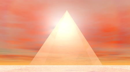 fantasy fantastic : Pyramid to sun - 3D render Stock Footage