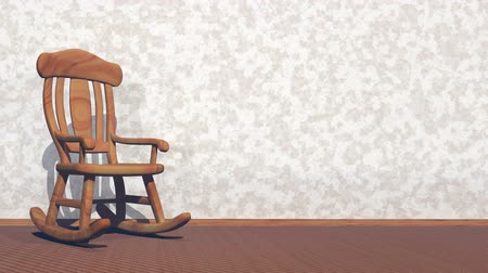 cadeira : Swaying rocking-chair - 3D render