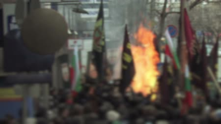 unrest : Protesters Light a Fire