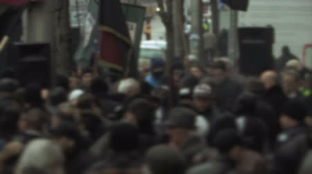 unrest : Protesters in Eastern Europe Stock Footage