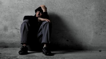 desemprego : Depressed Depression Background HD Stock Footage