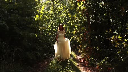 vila : Beautiful Vintage Fashion Woman Fairy Tale Forest Bride Concept Dostupné videozáznamy