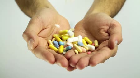 addiction recovery : Medical Pills Falling on Hands