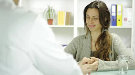 healthy office : Attractive Woman in Doctors Office