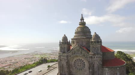 Santa Luzia Church Portugal Travel Architecture Sanctuary Viana Do Castelo Drone Famous Historic Dome Facade Southern Europe Ornate Sky Old