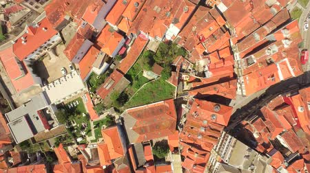Drone Aerial House Footage Cityscape Roof Dwelling City Porto Church Residential Famous Europe Travel Landmark Crowded Community Portugal