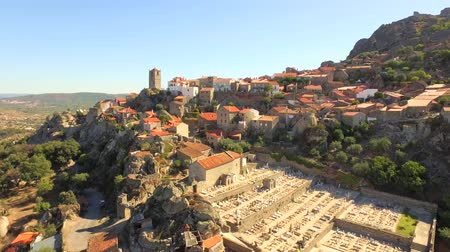 Drone Trees Community Portugal Tower History Travel Landscape Mountain City Building Europe Tourism 4K Aerial Famous Architecture Rock Residential