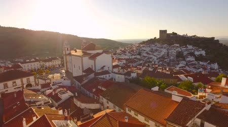 adriyatik : Footage Aerial Church Tower Sunlight Drone Community Mountain Landscape Travel Portugal Residential Crowded Famous Roof Historic Europe 4K Nature Tourism