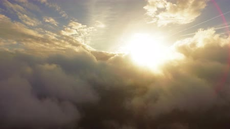 melek : Idyllic Clouds Sun Covering Drone Footage Beautiful Weather Sky Golden Fluffy Cloudscape Nature Sunlight Sunset