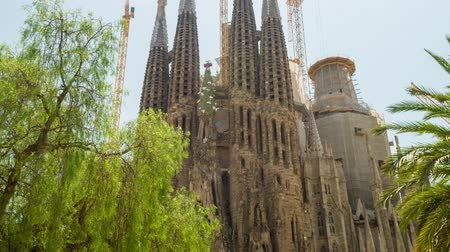 Sagrada Familia Cathedral In Barcelona Spain Exterior
