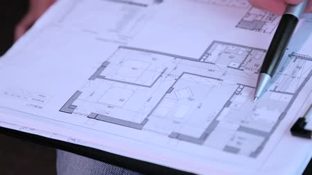 casas : Drawings and layout of the building closeup. Vídeos