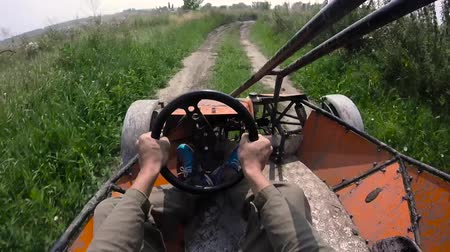 quadbike : Riding the buggy first person view.