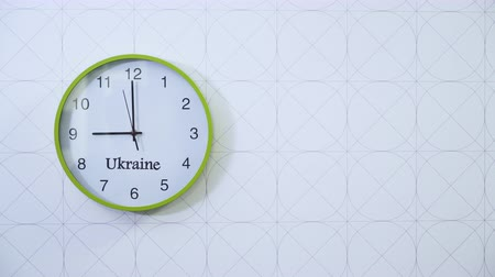 urbex : Ukrainian clocks on the wall.